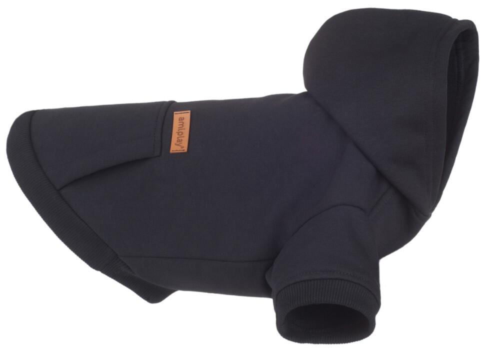 Hoodie voor honden Texas Amiplay zwart