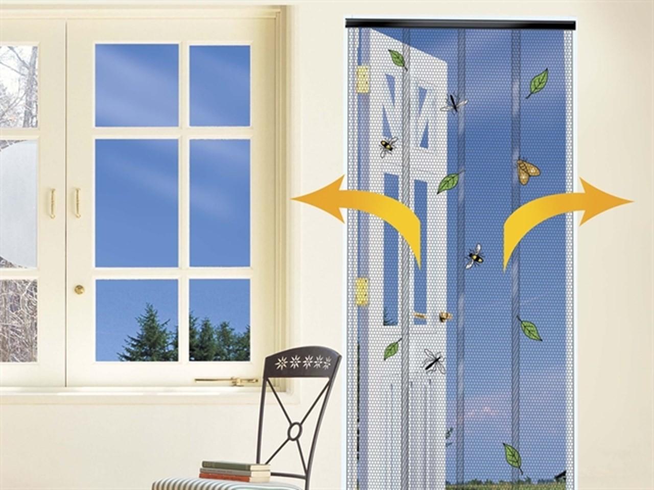 Vliegengordijn voor deurbreedte tot 100 cm