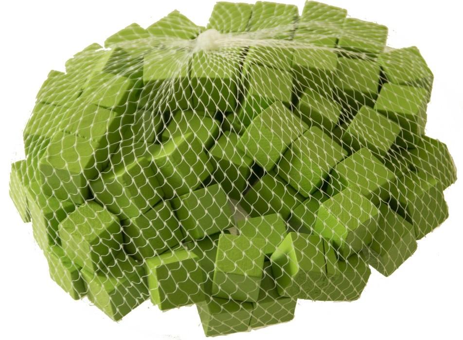 Houten blokjes groen 15 cm
