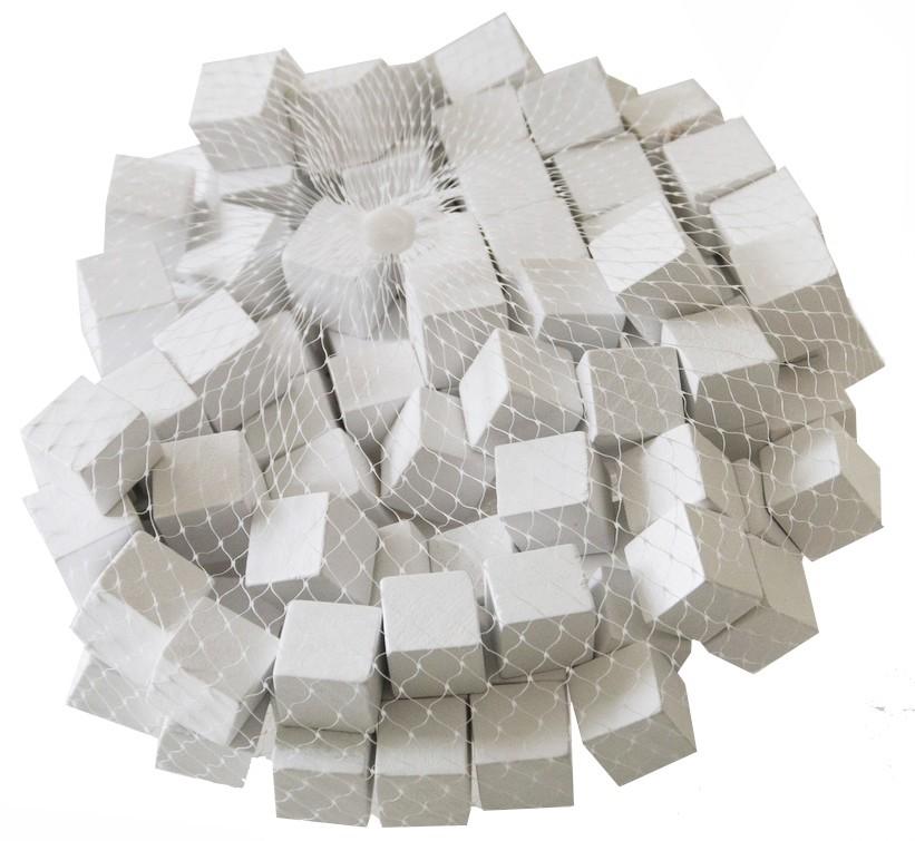 Houten blokjes wit 15 cm
