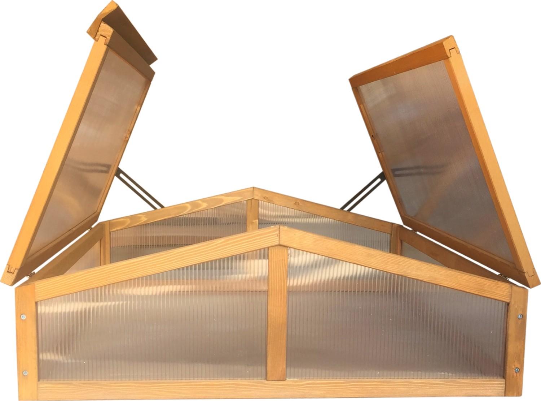 Houten kweekbak dubbel82 x 90 x 32 cm