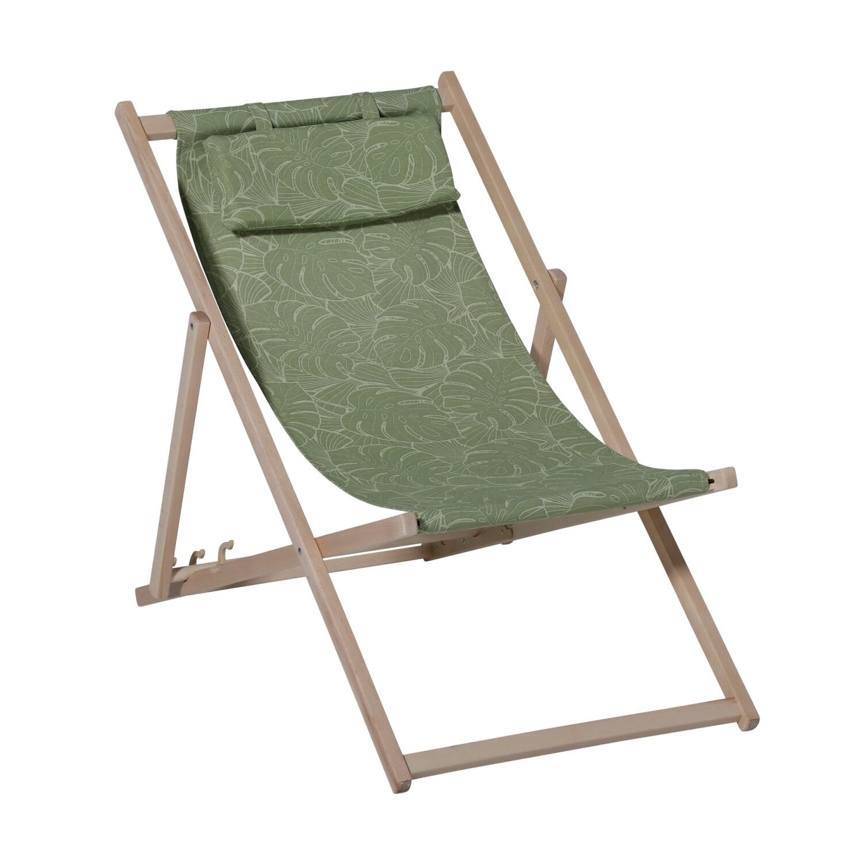 Madison houten strandstoel Palm outdoor groen