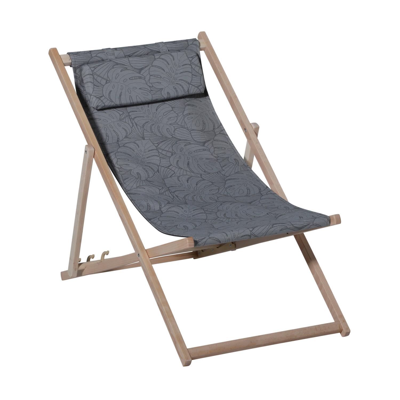 Madison houten strandstoel Palm outdoor grijs