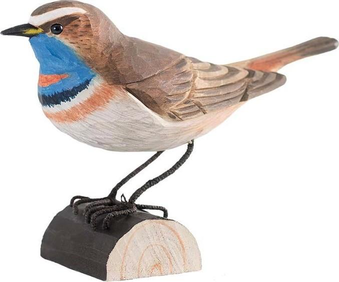Houten vogelblauwborst
