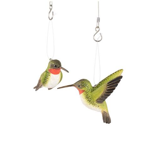 Kolibrie duo in lindenhout handgemaakt