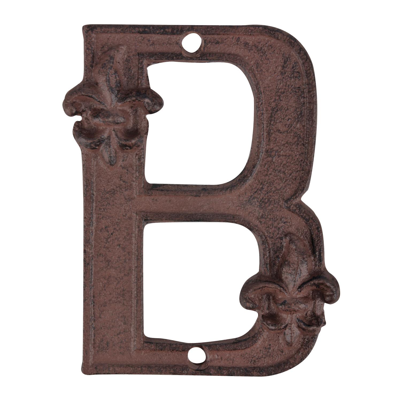 Huisletter B gietijzer