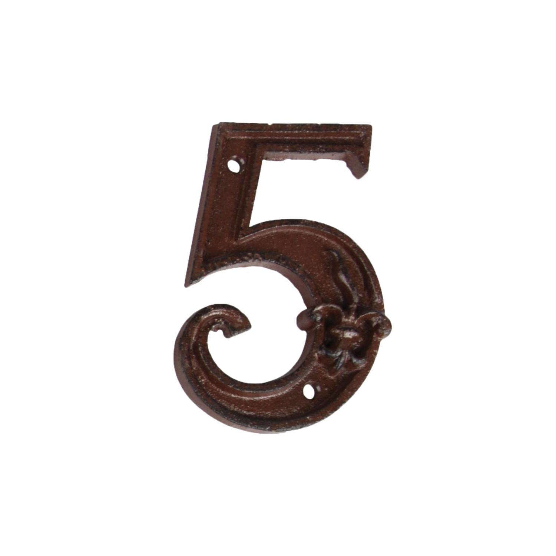 Huisnummer 5 gietijzer
