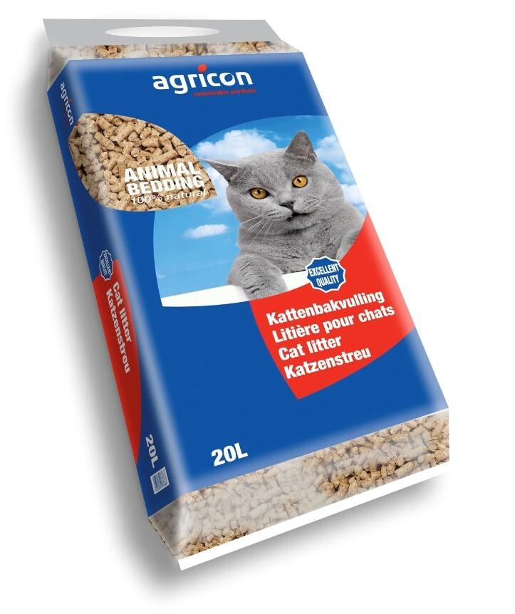 Kattenbakvulling ECO wood pellets Agricon 20 liter