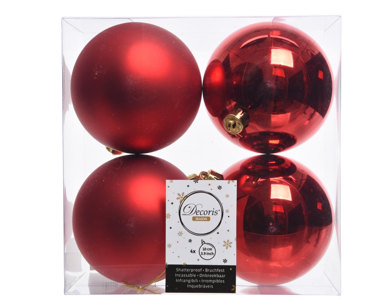 Kerstbal 10 cm Kerstrood