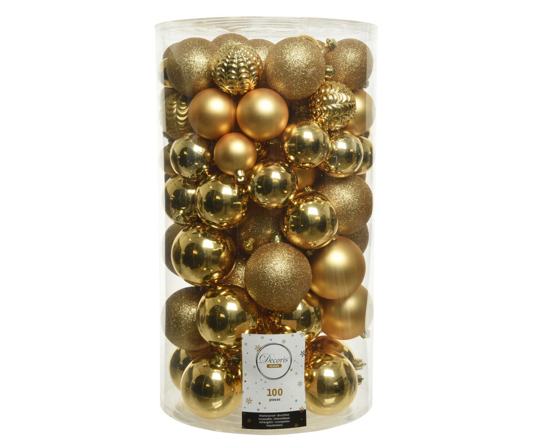 Kerstbal assortiment Licht Goud