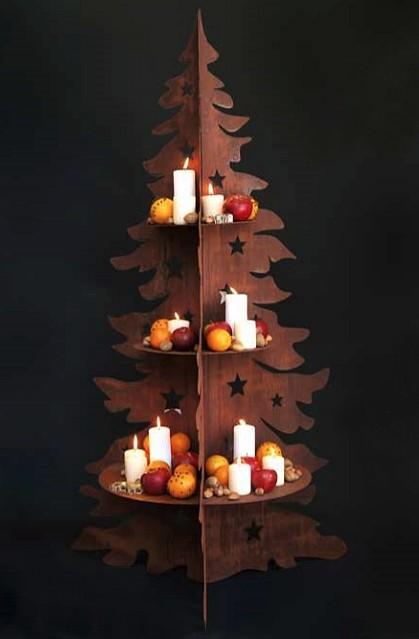 Kerstboom metaal display H 160 cm