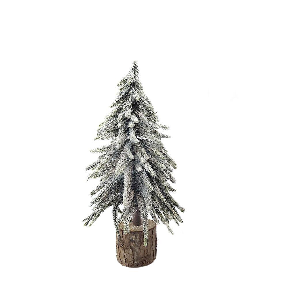 Kerstboom op houten voet 28 cm