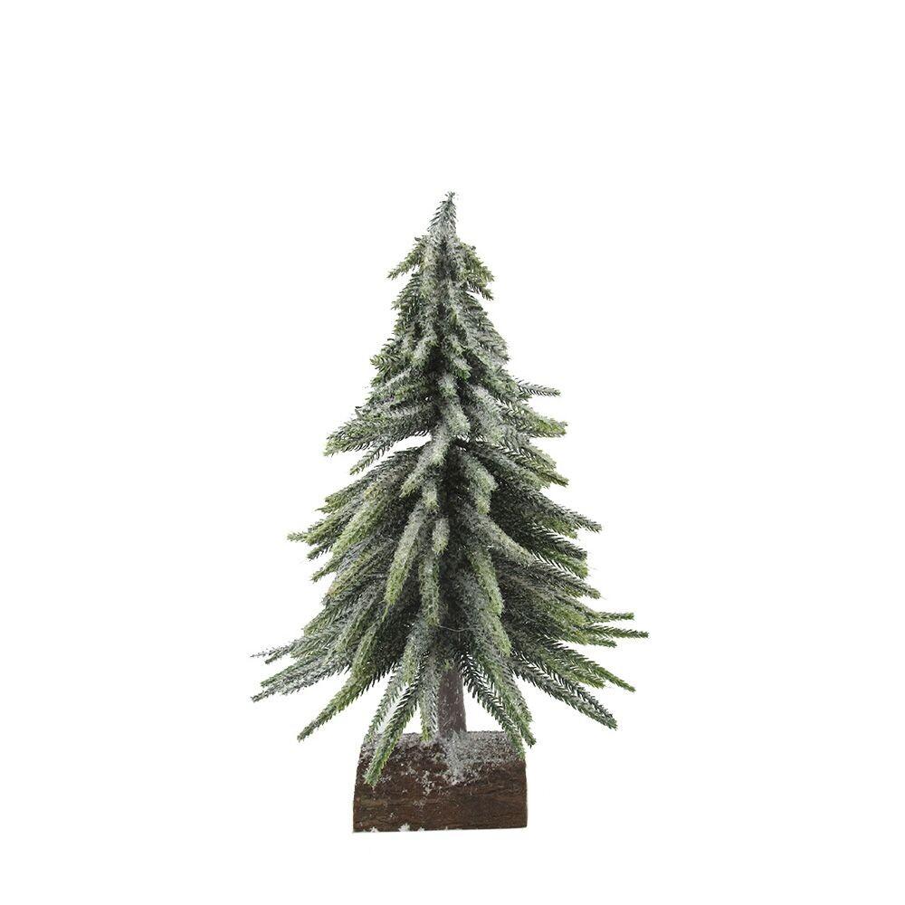 Kerstboom op houten voet 35 cm