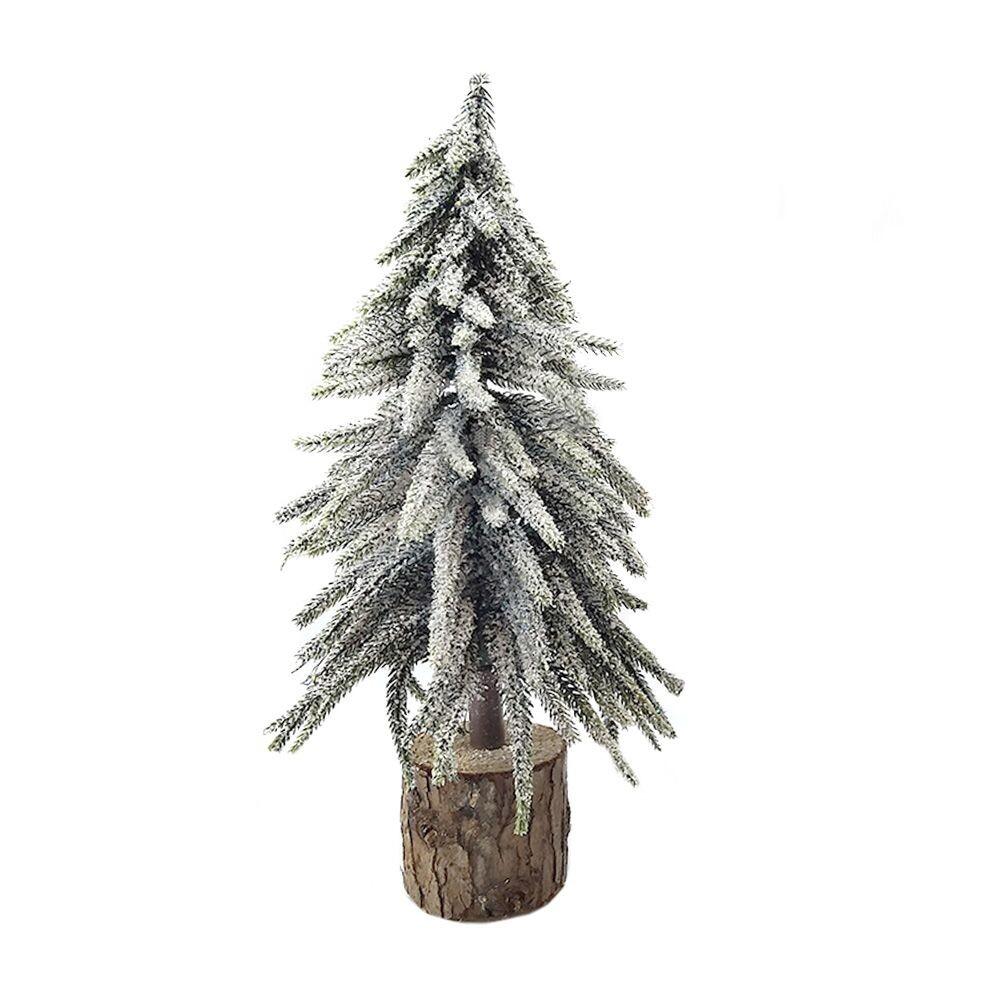 Kerstboom op houten voet 37 cm