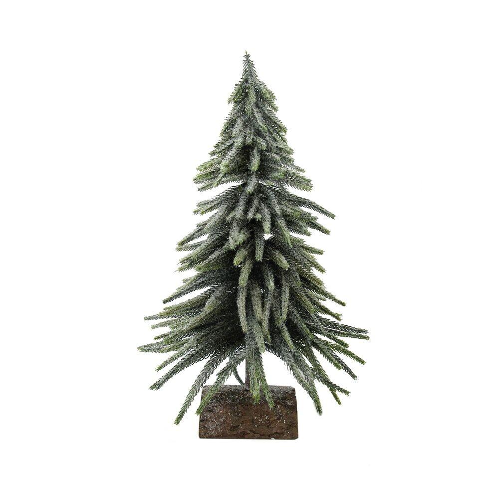 Kerstboom op houten voet 43 cm