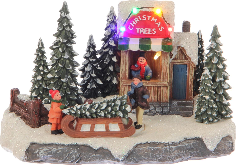 Kerstboom stand met slee