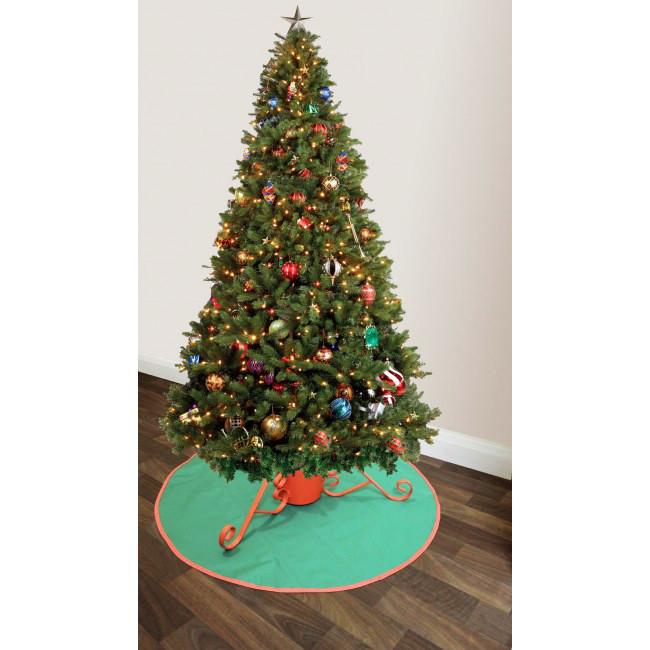 Kerstboommat groenrood