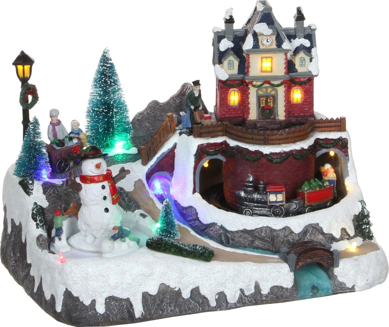 Kerstdorp met trein