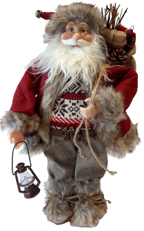 Kerstman staand rood 30 cm