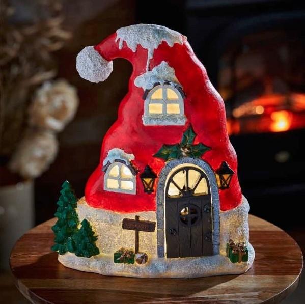 Kerstmuts als lichthuis