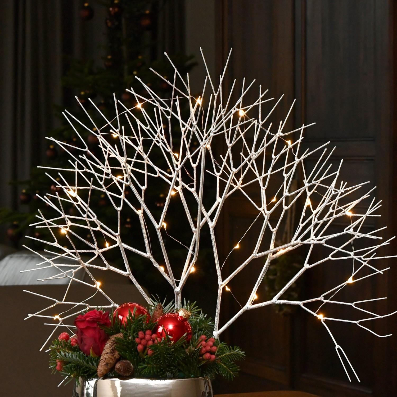 Kerstdeco boomsilhouet met led verlichting