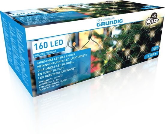 Kerstverlichtingsnet 160 x led netlight