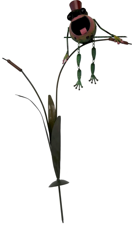 Kikker op lisdoddetuindeco 60 cm