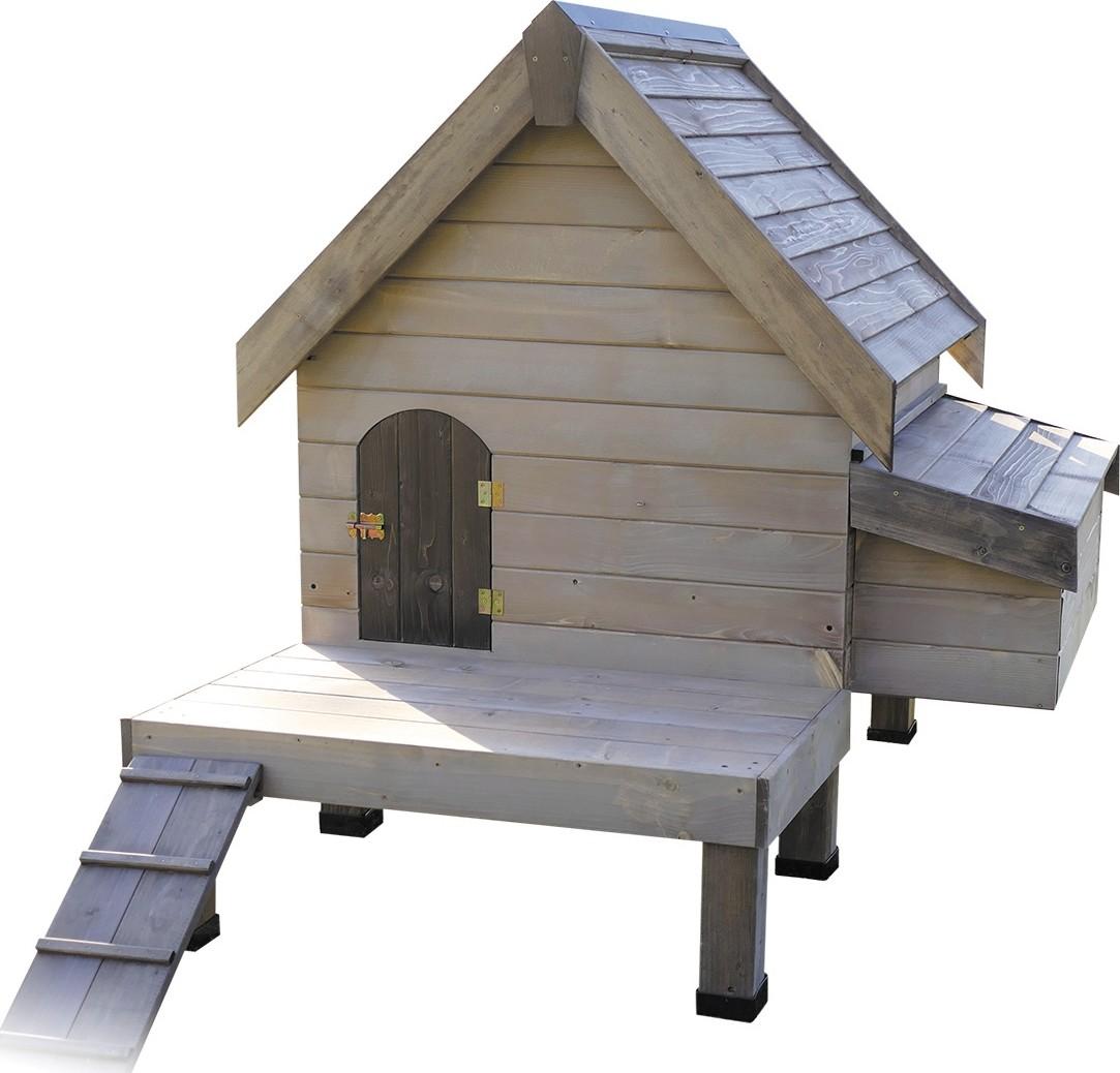 Kippenhok Cottage extra stevig met platform