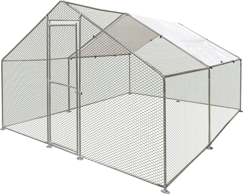Kippenren Doerak gegalvaniseerd 12 m2 4 x 3 x 2 m
