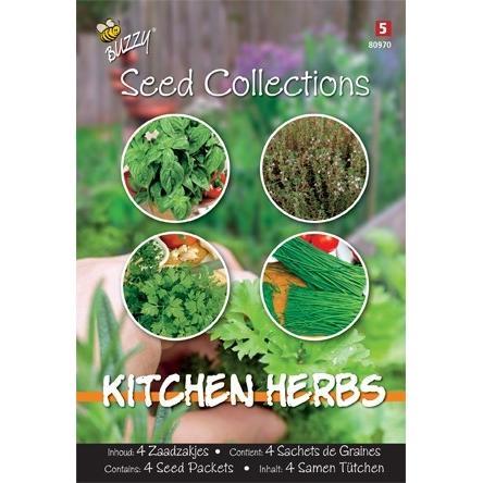 Kitchen Herbs mix4 zaadzakjes
