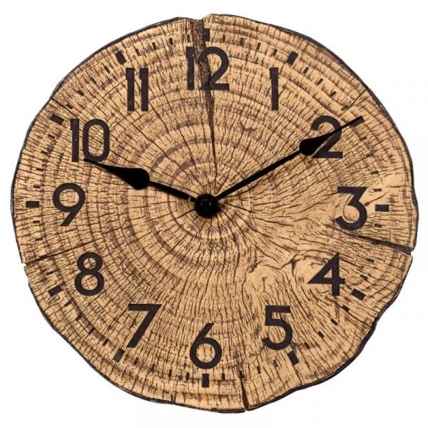 Klok met houtlook Tree Time30 cm