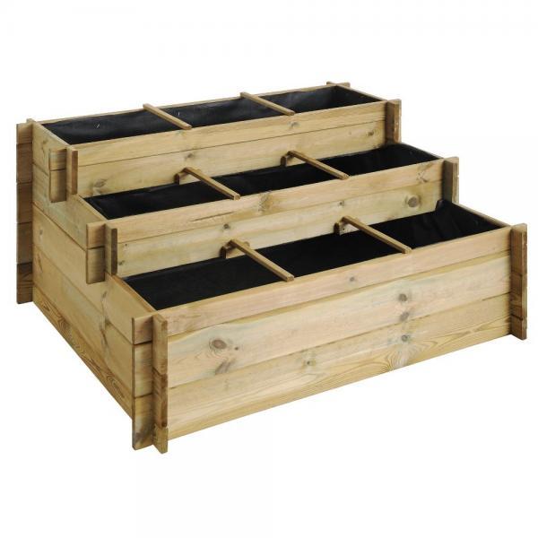 Kruidenbak grenenhout UP3 niveaus