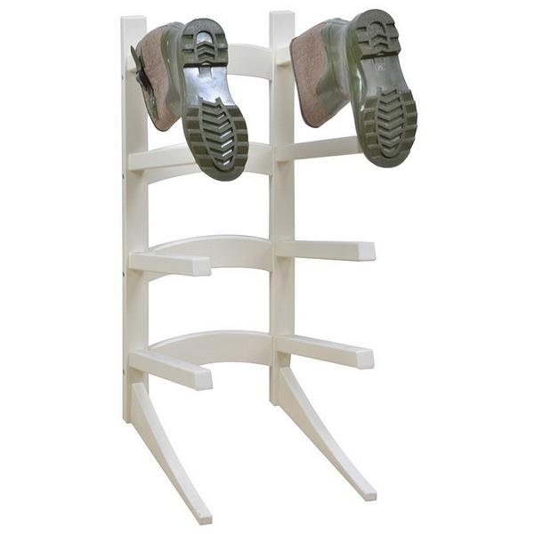 Laarzenrek staand in hout8 laarzen