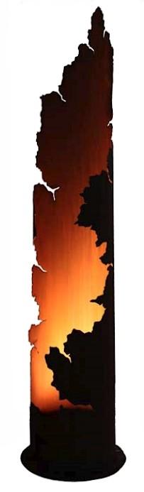 Lichtzuil Messina met led spotdecoroest