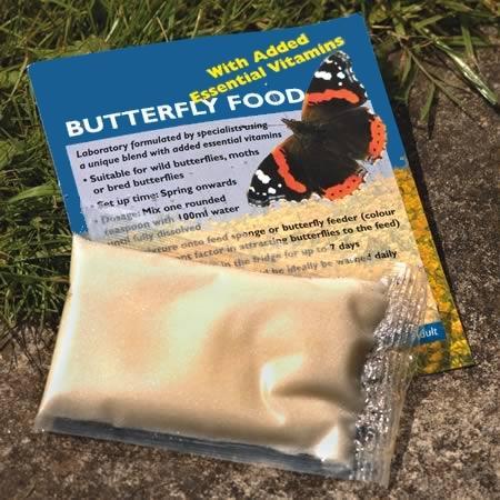 Lokstof voer voor vlinders met vitamines