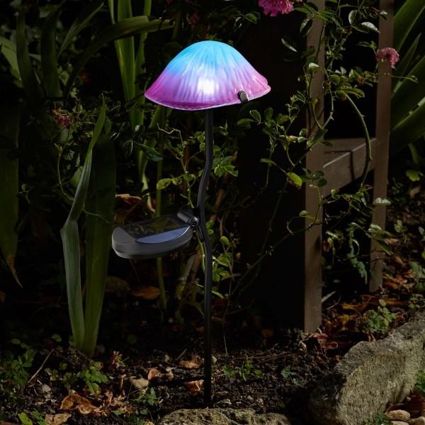 Magische paddenstoelledverlichting solar