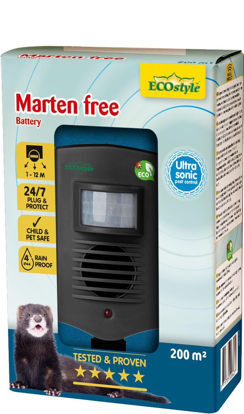 Verjager marters 200 m2 ultrasoon op batterijen