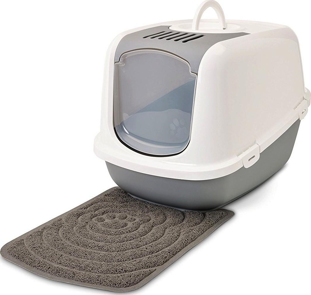 Mat voor kattenbak grijs 48 x 315 cm