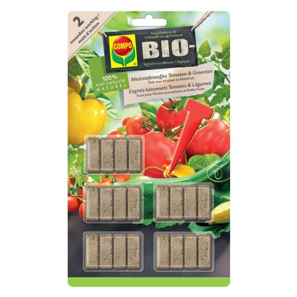 Meststofstaafjes BIO voor eetbare gewassen in pot
