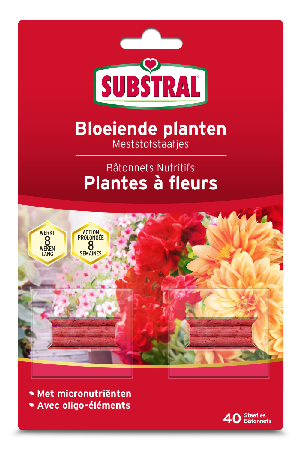 Meststofstaafjes Substral bloeiende planten
