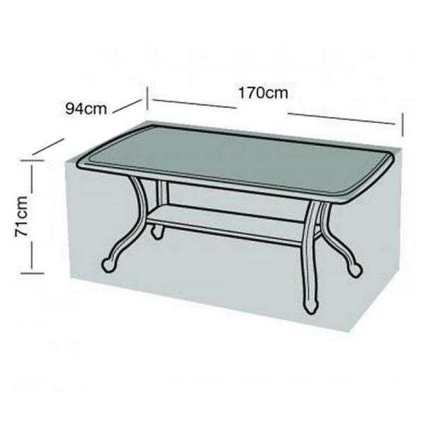 Tuinmeubel beschermhoes rechthoekige tafel170 x 94 x 71 cm