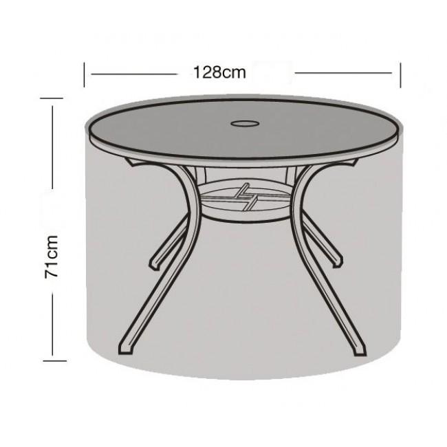 Tuinmeubel beschermhoes voor ronde tafel128 x 71 cm