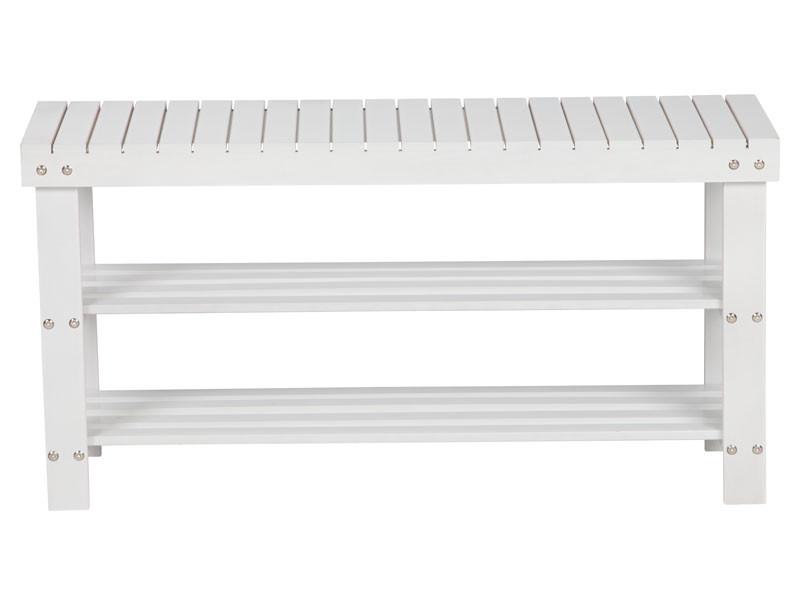 Multifunctioneel bankje wit90 cm