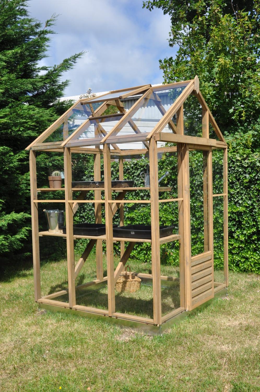 Muscat 66 houten tuinkas 185 x 180 x 240 cm 33 m2