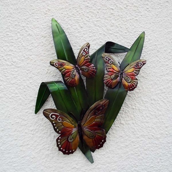 Muurdecoratie vlinders op blad