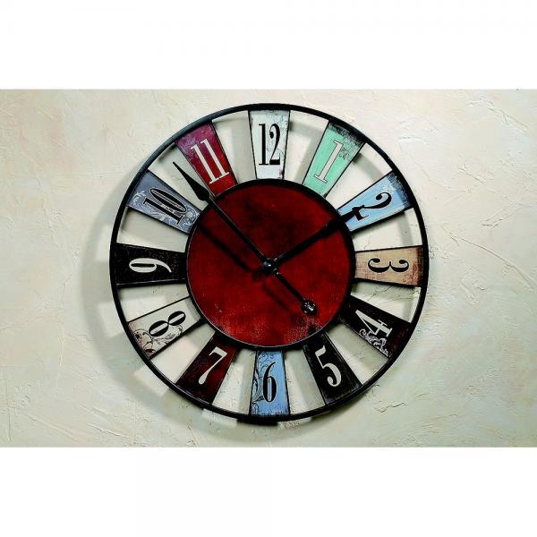 Reuze muurklok in kleur 74 cm