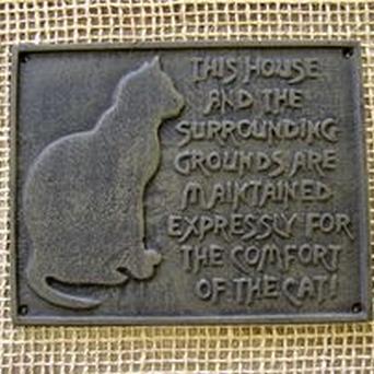 Muurplaat voor kattenliefhebbers