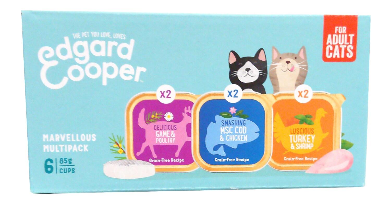 Multipack natvoer voor volwassen katten EdgardCooper 6 X 85 g