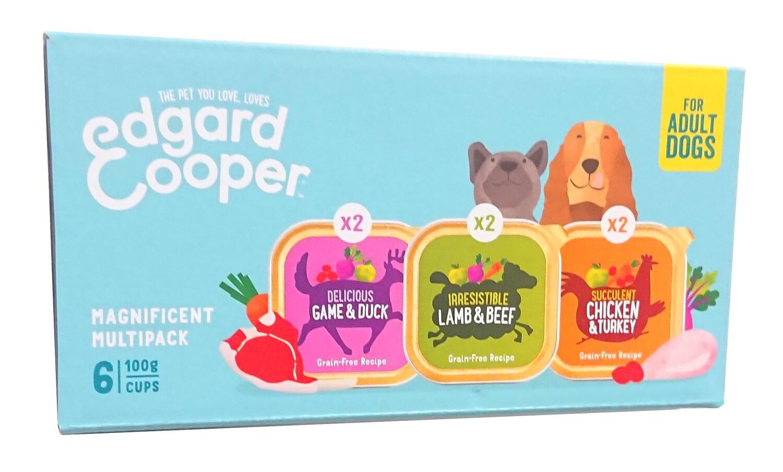 Multipack natvoer voor volwassen honden EdgardCooper 6 X 100 g