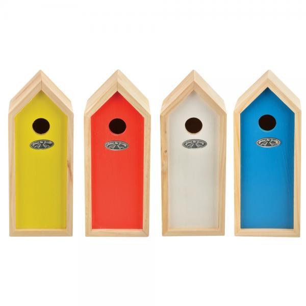 Nestkast koolmees 13 x 12 x 30 cm4 kleuren
